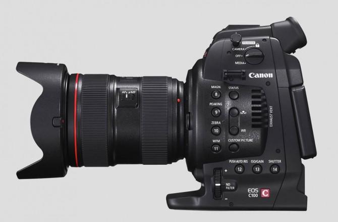 Canon C100 met fotolens